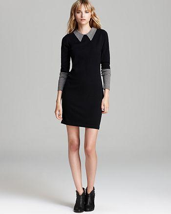 525 - Collar Sweater Dress