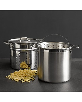 All-Clad - Stainless Steel 4-Piece Multi Pot 12-Quart Cooker