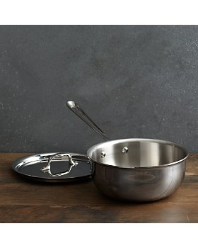 All-Clad - Stainless Steel 3 Quart Saucier Pan with Lid