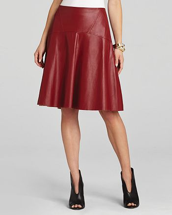 BCBGMAXAZRIA - Camber A-Line Faux Leather Skirt