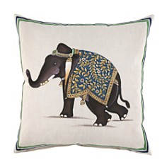 "JR by John Robshaw - Indian Elephant Decorative Pillow, 20"" x 20"""
