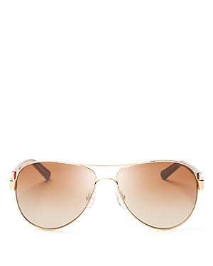 cd65a88f1111 UPC 642878958214 - Tory Burch Classic Stripe Aviator Sunglasses ...