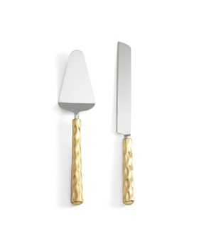 Michael Wainwright - Michael Wainwright Truro Gold Cake Knife & Server Set