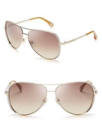 a5f487a615b5 Michael Kors Women's Sadie Aviator Sunglasses | Bloomingdale's