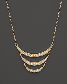 Diamond Crescent Pendant Necklace in 14K Yellow Gold, .30 ct. t.w. - 100% Exclusive - Bloomingdale's_0