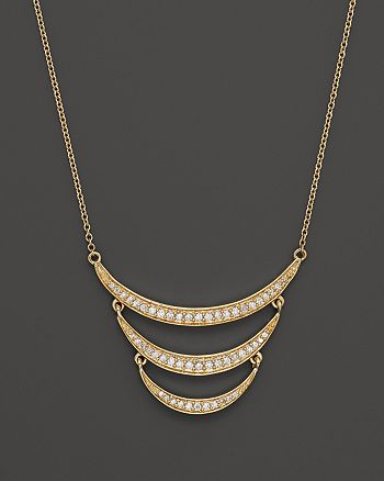 Bloomingdale's - Diamond Crescent Pendant Necklace in 14K Yellow Gold, .30 ct. t.w. - 100% Exclusive