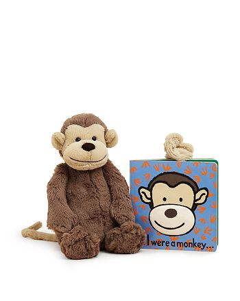 Jellycat - If I Were a Monkey Book & Monkey Toy