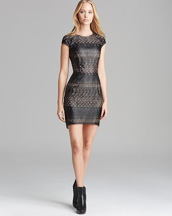 Dolce Vita - Wallis Laser Cut Faux Leather Dress