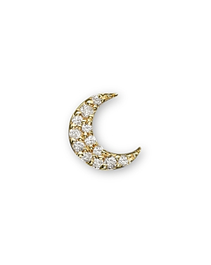 Click here for Meira T 14K Yellow Gold Single Stud Moon Earring prices