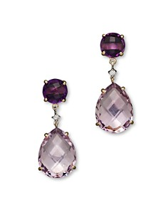 14k Yellow Gold Amethyst Rose Drop Earrings 100 Exclusive Bloomingdale