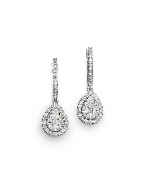 Bloomingdale's - Diamond Fancy Cut Teardrop Earrings in 14K White Gold, 1.40 ct. t.w.- 100% Exclusive