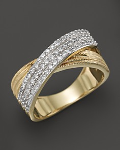 Diamond Crossover Band in 14K Yellow Gold, .50 ct. t.w. - 100% Exclusive - Bloomingdale's_0