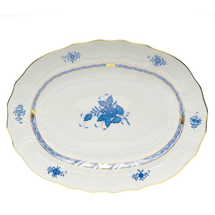 Herend - Chinese Bouquet Blue Platter