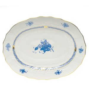 Herend Chinese Bouquet Blue Platter