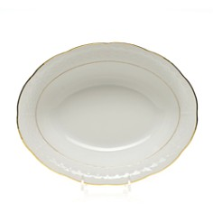 Herend Golden Edge White Oval Vegetable Dish - Bloomingdale's_0