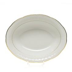Herend - Golden Edge White Oval Vegetable Dish