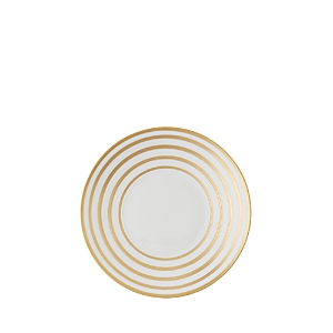Jl Coquet Hemisphere Bread & Butter Plate, Gold Stripes