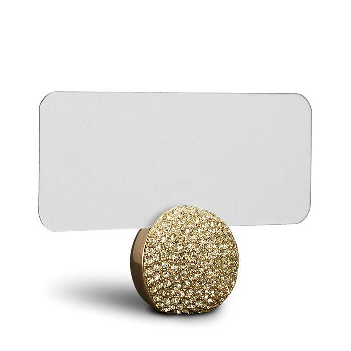 L'Objet - Gold Pave Sphere Place Card Holder, Set of 6