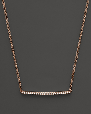Diamond Mini Bar Necklace in 14K Rose Gold, .10 ct. .t.w. - 100% Exclusive