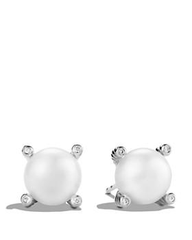 9d6532835c06 David Yurman - Pearl Earrings with Diamonds ...
