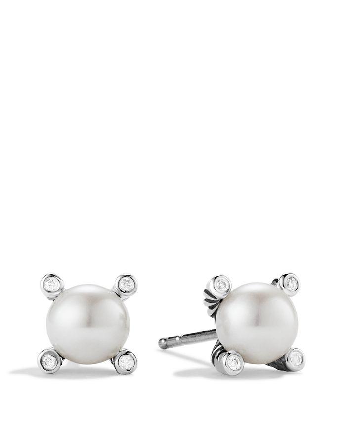 982fee966126 David Yurman - Small Pearl Earrings with Diamonds