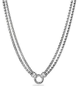 David Yurman - Double Wheat Chain Necklace with Diamonds