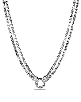 David Yurman - Double Wheat Chain Necklace with Diamonds