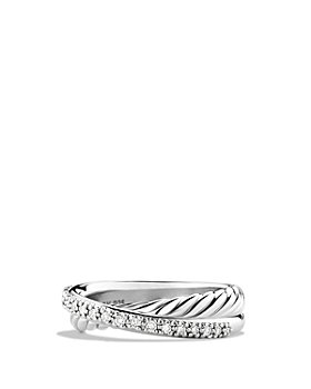 David Yurman - Crossover Ring with Diamonds