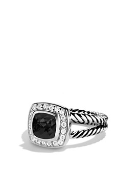 David Yurman - Petite Albion Ring with Black Onyx & Diamonds