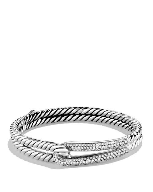 David Yurman - Labyrinth Single-Loop Bracelet with Diamonds