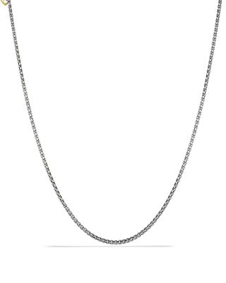 """Small Box Chain with Gold, 72"""""""