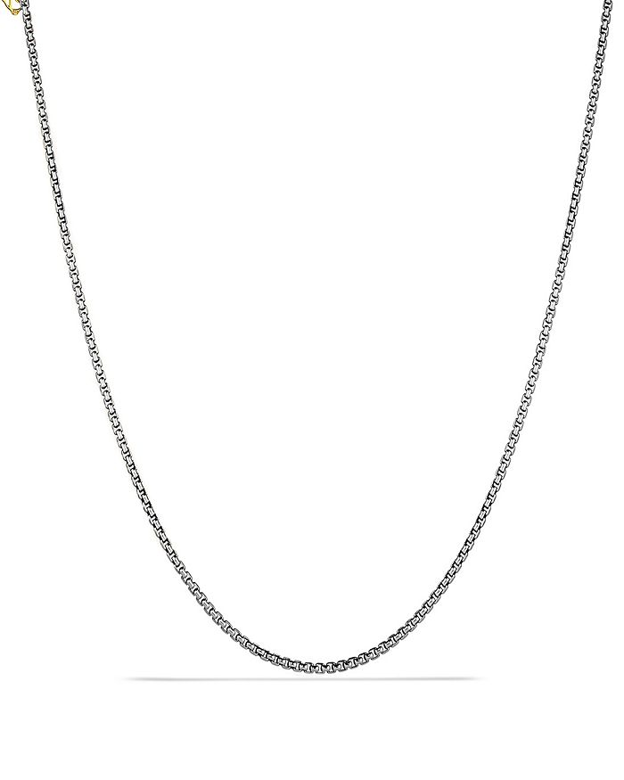 David Yurman - Small Box Chain Necklace with an Accent of 14K Gold 2.7mm