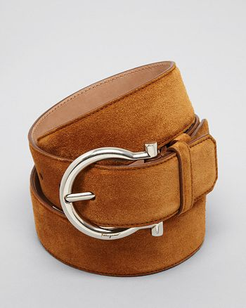Salvatore Ferragamo - Men's Suede Gancini Belt