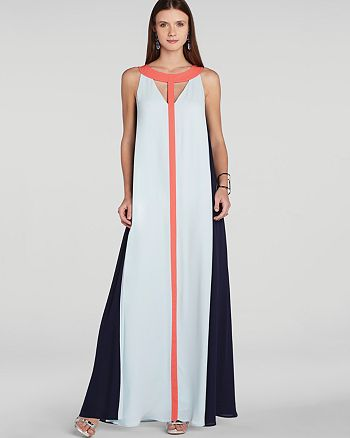 BCBGMAXAZRIA - Wilah Color Block Cutout Maxi Dress