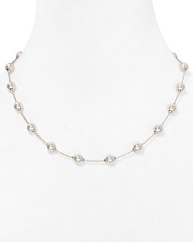 Majorica - Stationed Simulated Pearl Necklace, 18""