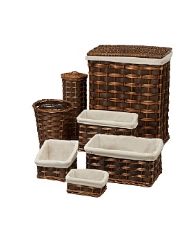 Honey Can Do - Honey Can Do 7-Piece Wicker Hamper & Bath Set