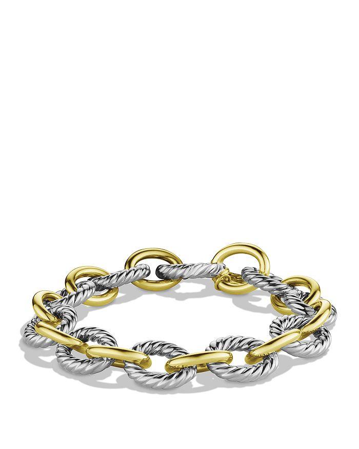 David Yurman - Oval Large Link Bracelet with Gold
