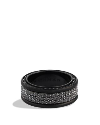 $David Yurman Streamline Three-Row Band Ring with Black Diamonds - Bloomingdale's