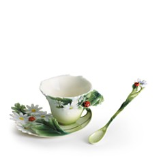 Franz Collection - Franz Collection Ladybug Cup & Saucer with Spoon