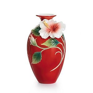 Franz Collection Island Beauty Hibiscus Flower Small Vase