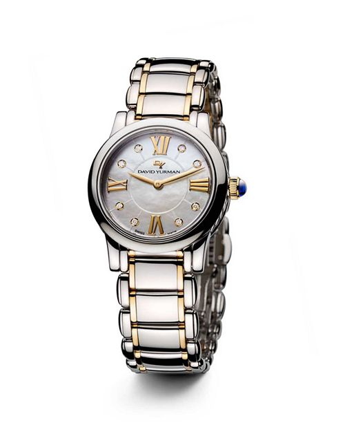 David Yurman - Classic 30mm Stainless Steel Quartz with Diamond Markers & Gold