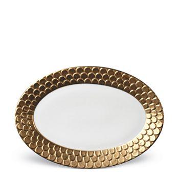 "L'Objet - Aegean Oval Platter, 15"""