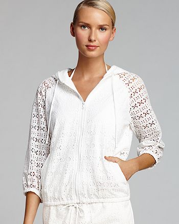 Tory Burch - Encintas Cover-Up Jacket with Hood