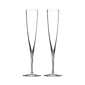 Waterford Elegance Champagne Trumpet Flute, Pair