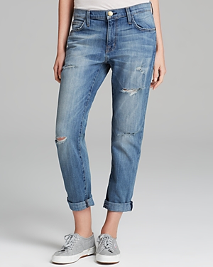 Current/Elliott The Fling Boyfriend Jeans in Super Loved Destroy