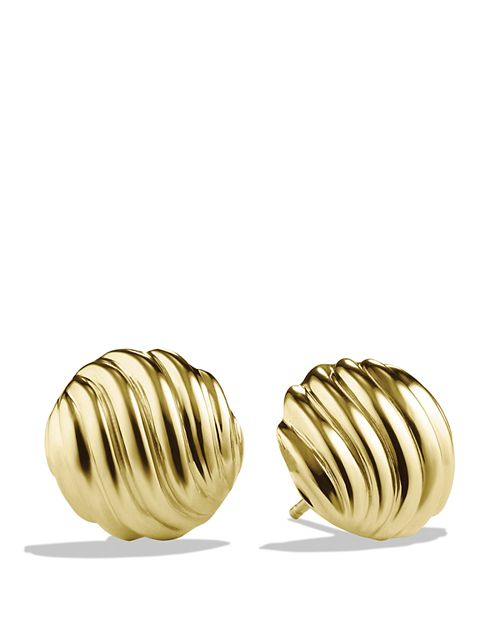 David Yurman - Sculpted Cable Earrings in Gold