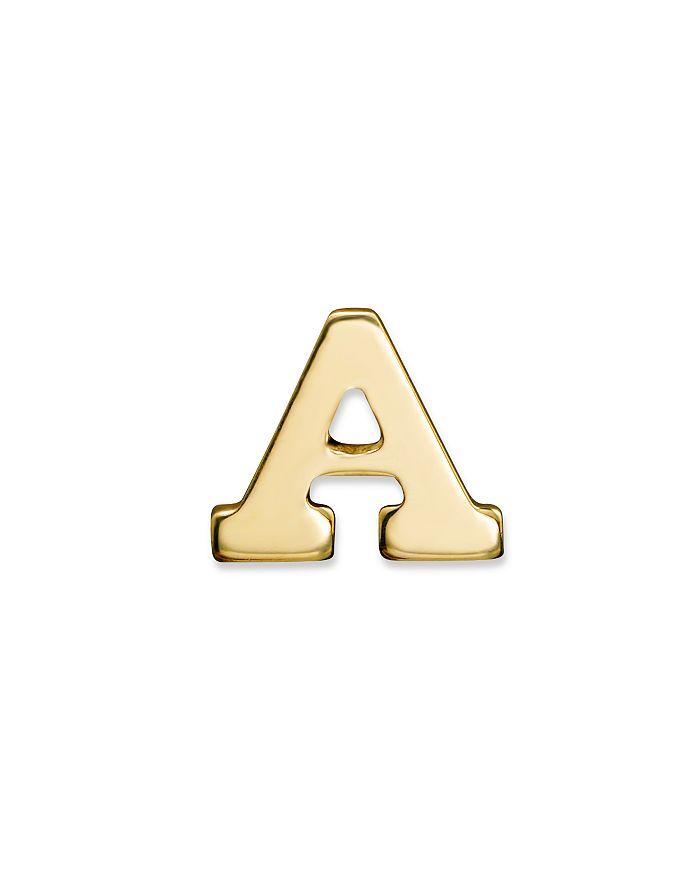Zoë Chicco - 14K Yellow Gold Initial Single Stud Earring