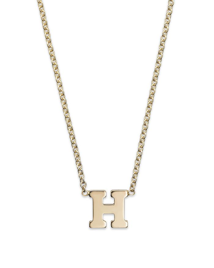 ZoË Chicco 14k Yellow Gold Initial Necklace, 16 In H