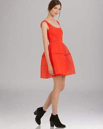 Maje - Dress - Mesh Overlay