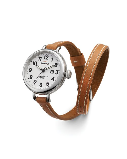 Shinola - The Birdy Double Wrap Strap Watch, 34mm